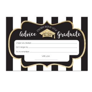 Striped Graduation Advice Cards
