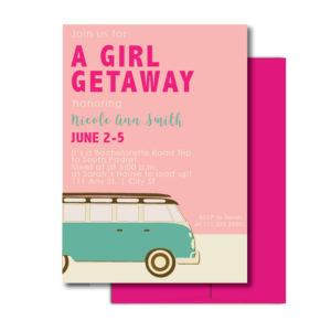 Bachelorette Road Trip Invite