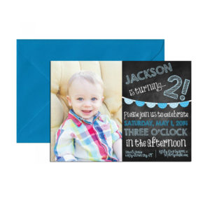 Chalkboard Party Photo Invite