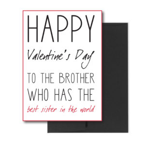 Brother Valentine's Card