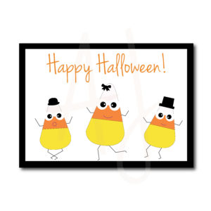 Dancing Candy Corn Card