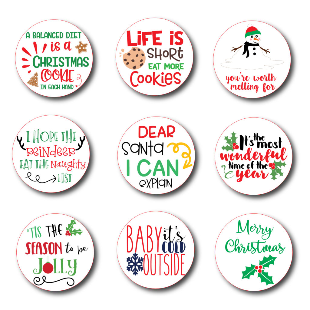 It is an image of Astounding Printable Christmas Stickers