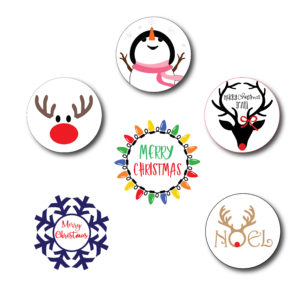 Cute Printed Christmas Stickers