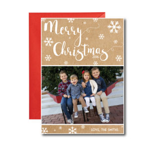 Rustic Snowflake Christmas Card