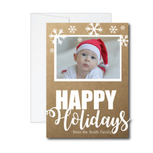 Snowflake Holiday Card with Photo