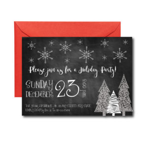 Chalkboard Holiday Party Invite