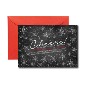 Chalkboard Cheers Holiday Party Invite