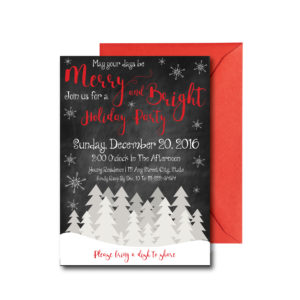 Chalkboard Snowflake Holiday Party Invite