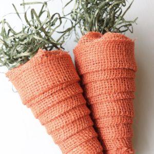 Burlap Carrots