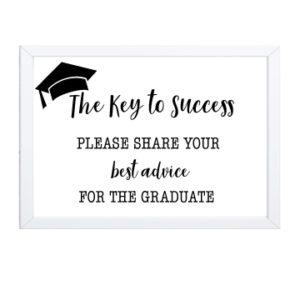 Keys to Success Graduation Sign
