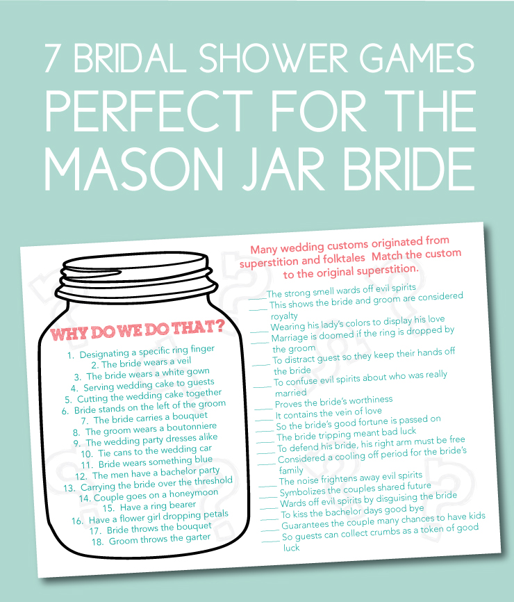 7 bridal shower games you must have for the mason jar bride