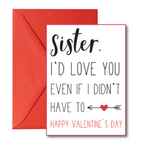 Sister Valentine's Card