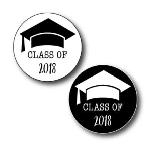 circle graduation stickers