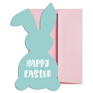 Teal Easter Bunny Cards