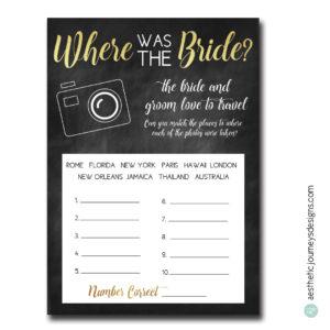 Where was the Bride?