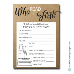 Who Read it First?