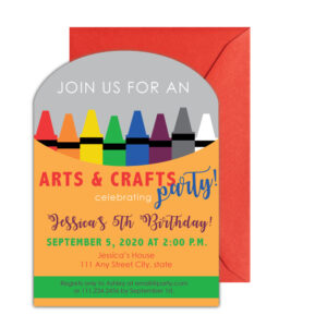 Arts and Crafts Party Invite