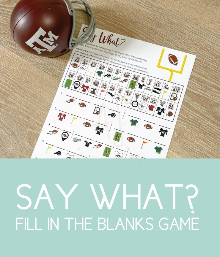 fill in the blanks football game