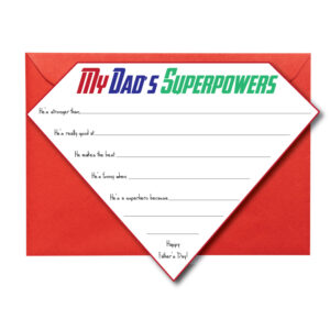 Superhero Card for Father's Day