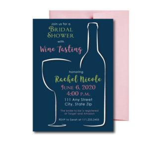 Wine Tasting Bridal Shower Invite